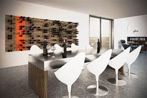 Modern Wall Wine Design