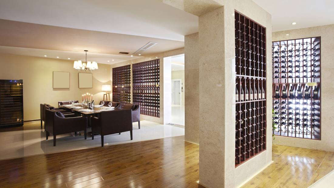 stunning wine cellar space