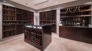 contemporary wine cellar design