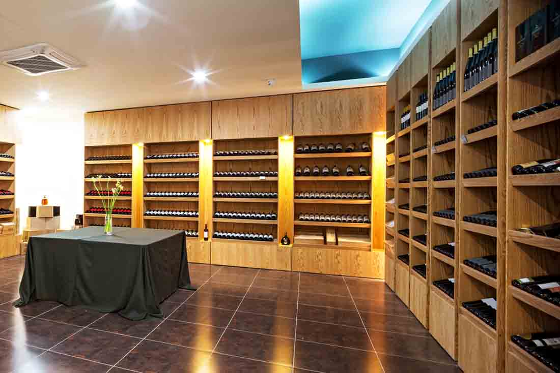 custom layout for your wine cellar