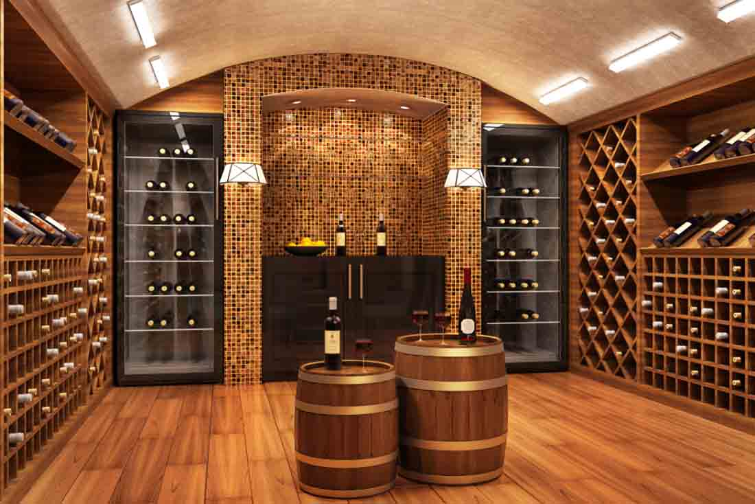lighting fixtures for wine cellar